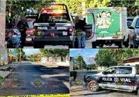 ¡A balazos! En Tecomán, municipales detienen a sujeto que robó camioneta en San Miguel del Ojo de Agua