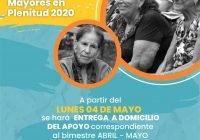 A partir de este 4 de mayo, Ayuntamiento de Colima, entregará a domicilio apoyo económico del programa de Adultos Mayores.