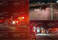 Carambola entre motociclistas junto a la gasolinera El Llano en Tecomán, arroja siete personas lesionadas