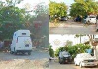 En operativo conjunto, Fiscalía asegura armas y vehículos en cateo en la colonia Sta. Elena, en Tecomán