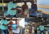 Por COVID-19, periodista y empresas donan despensas y huevo a ramaderos de Tecuanillo
