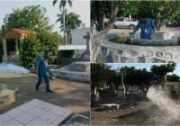 Limpieza y sanitización en el Panteón Municipal de Colima.