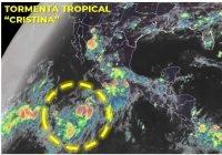 """La Tormenta Tropical """"Cristina"""" se desplaza al sur de las costas de Colima y Michoacán"""