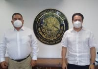 El diputado local Colimense Memo Toscano se reúne con legislador federal Mario Delgado