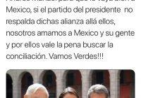 Dirigente nacional de Morena no quiere alianza con el verde; Gaby Benavides le contesta que la alianza es con AMLO