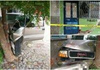 En Colima, conductor en estado de ebriedad causa daños a una oficina de aseguranza