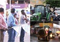 Sector productivo respalda acciones de sanitización en Tecomán