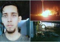 Fallece joven motociclista que fue impactado brutalmente por un taxi anoche en Tecomán