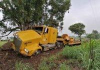 Tras impactarse contra un árbol, conductor de tráiler se encuentra gravemente herido