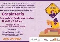 Instituto Colimense de las Mujeres lanza curso digital de carpintería