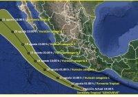 Ante cercanía de Tormenta Tropical, personas en zonas de riesgo deben ponerse a salvo