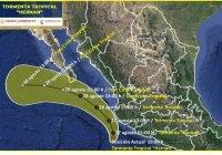 ¡ Alerta ! La tormenta tropical Hernán se localiza frente a las costas de Colima y Jalisco