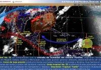 Se pronostica para este domingo lluvias torrenciales en Colima, Jalisco, Nayarit y Michoacán