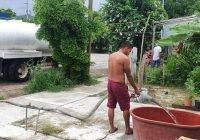 """Apoya Virgilio Mendoza con pipas de agua a colonias afectadas por """"Hernán"""""""