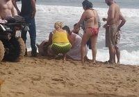 Este fin de semana dos turistas fueron arrastrados por la corriente en una playa de Manzanillo