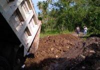 Ángel Pano gestiona la rehabilitan el camino saca cosechas del canal viejo a Caleras