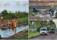 Muere una niña y un niño al caer una camioneta a un canal rumbo al Cerrito de Aguilar