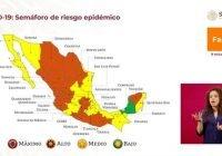 Colima se mantiene en semáforo epidemiológico anaranjado para las próximas dos semanas