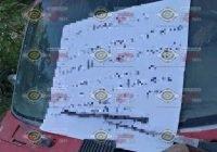 Localizan camioneta con reporte de robo y un narco mensaje en la comunidad de Las Conchas, Ixtlahuacán