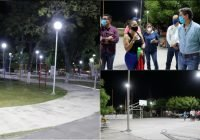 En Tecomán, concluye obra de iluminación en parques y jardines