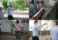 En atención al deporte Alcalde Carlos Carrasco construye un gimnasio en Ixtlahuacán