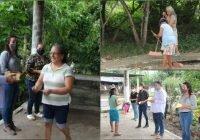 Familias del Capire e Higueras reciben su pago del programa municipal empleo temporal