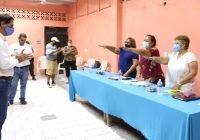 Invita Alcalde Elías Lozano a locatarios del mercado Cuahutémoc, a contribuir en el mejoramiento de la fisonomía del centro de Tecomán