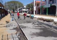 Ayuntamiento de Armería invierte casi 3 millones en construcción de concreto hidráulico