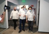 Gobernador y secretario de Hacienda supervisan avances en obra del C5i