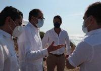 Gobernador presenta proyectos de nuevo puerto a Titular de Hacienda