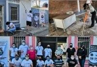 Intensa brigada de limpieza, implementó la comunidad tecomense, este fin de semana, en Cofradia de Morelos