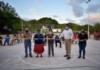 Presidenta Lilia Figueroa entrega primera cancha de usos múltiples en comunidad del Platanar