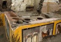 "Descubren ""restaurante de comida rápida"" en Pompeya, Italia"