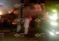 Pipa de 5, 800 litros de gas se incendia a las afueras de un hotel en Villa Obregón, Melaque
