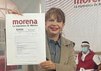 Se registra la dip. Claudia Yáñez Centeno como precandidata de Morena al Gobierno de Colima