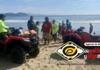Mantaraya lesiona a hombre en playa de Miramar, Manzanillo