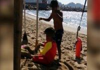 Rescatan a menor de edad en playa de Las Brisas, Manzanillo