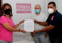 Dip. Claudia Yáñez se registra como precandidata a la Gubernatura del estado de Colima por el partido Fuerza Por México