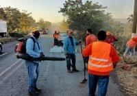 Locho Morán continúa priorizando el mantenimiento de la ciudad de Colima