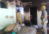 Se incendia vivienda de un adulto mayor en la colonia Independencia, de Armería