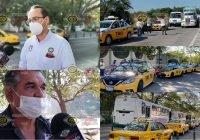 Taxistas y camioneros se unen en contra de mototaxis; bloquean la capital