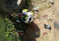 Tras derrapar, motociclista sufre lesión en la cabeza en Manzanillo