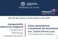 Por iniciar, Jornadas Académicas 2021 de la Universidad de Colima