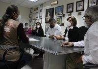 Supervisan áreas de vacunación contra  Covid-19 para personal de salud
