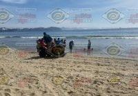 Mujer sufre picadura de mantarraya en playa Miramar, Manzanillo