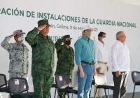 Inauguran JIPS y AMLO cuartel de la Guardia Nacional en Tecomán