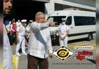 AMLO visita instalaciones del API Manzanillo, mantiene sana distancia