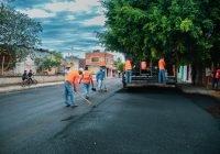 Continúan obras de repavimentación en la zona centro de la ciudad, transitar con precaución