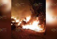 Taller mecánico se incendia en colonia Santa Elena, Tecomán