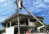 Comuna tecomense refuerza acciones de iluminación en San Martín